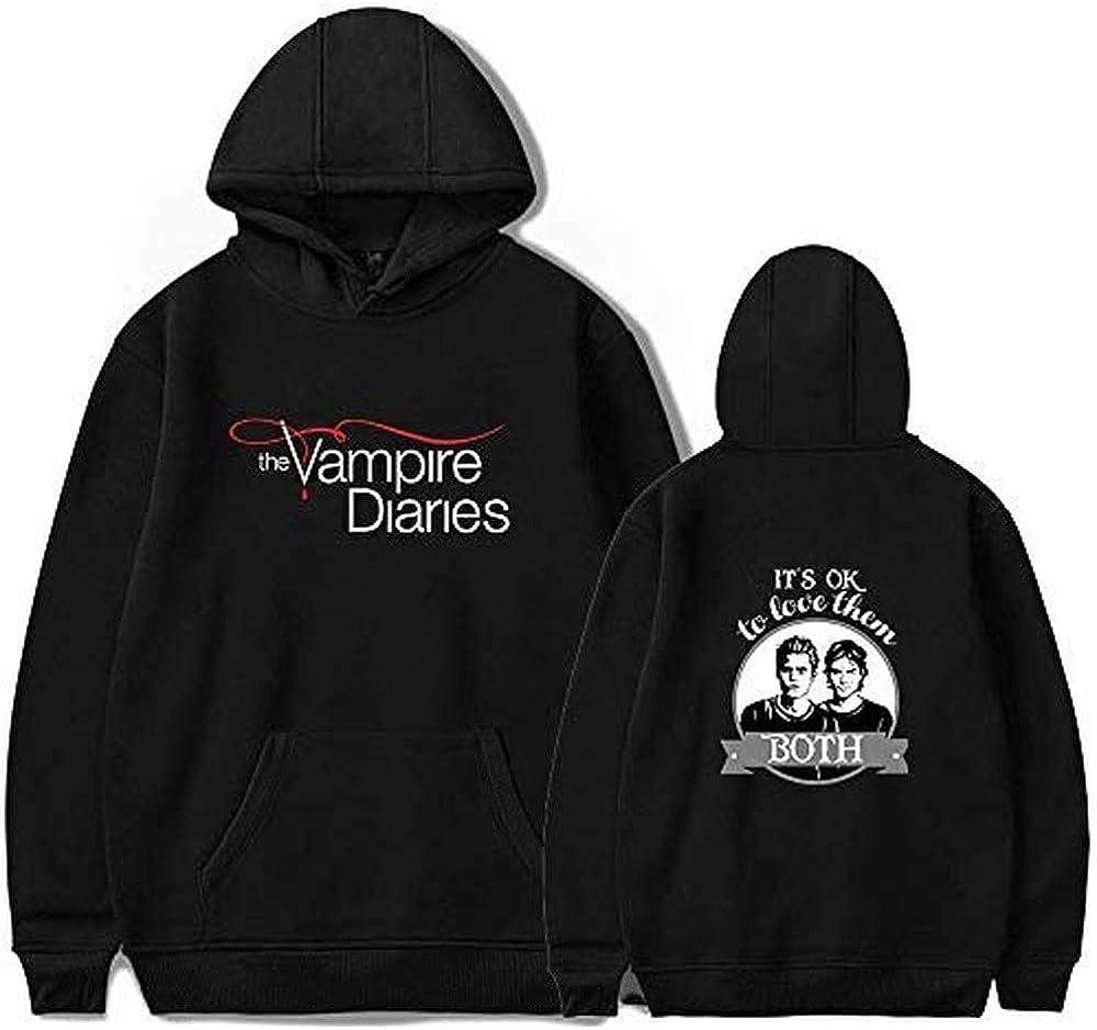 The Vampire Diaries Hoodie Unisex Pullover Men Women's Streetwear Long Sleeve Streetwear Fashion Clothes (black2,S)
