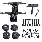 Sparkfire Skateboard Trucks, Skateboard Wheels 52mm, Skateboard Bearings ABEC-11, Skateboard Tool, Skateboard Pads, Skateboard Hardware Combo Set