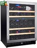 Cantina vini da 54 bottiglie mobile cantinetta Nevada NW54D-S 2 Temperature da _5°C a _22°C Classe...
