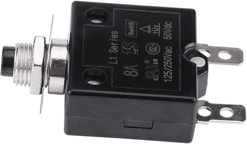 10A Disjoncteur /à Interrupteur Thermique /à r/éarmement Manuel Protecteur de Surcharge de Courant Outbit Disjoncteur