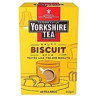 Yorkshire Tea Biscuit Brew Tea Bags, Pack of 4 (total of 160 tea bags) ヨークシャーティー ビスケットブリュー 4パック(合計160個のティーバッグ)