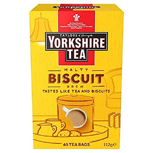 Taylors of Harrogate Biscuit Brew Yorkshire 40 Tea Bags, 112 g