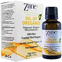 Aceite de orégano Zane Hellas 100% sin diluir.Aceite esencial de orégano silvestre griego puro.86% Min Carvacrol.129mg de Carvacrol por porción.Probablemente el mejor aceite de orégano del mundo.30 ml