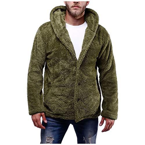 Xmiral Windcheater Sweatshirt Uomo Jacket Uomo Tuta Blazer Waistcoat Panciotto Uomo Piumino Cardigan Cappotto Maglione Camicia Felpe Senza Cappuccio Sweatshirt Hoodie (S,Army Green)