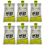 RESCUE! Big Bag Fly Trap – Large Disposable Outdoor Hanging Fly Trap - 6 Traps