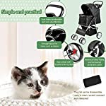 Display4top Pet Travel Stroller Dog Cat Pushchair Pram Jogger Buggy With 4 Wheels (Black) 11