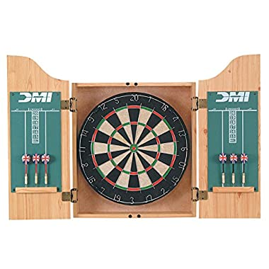 DMI Sports Deluxe Dartboard Cabinet Sets (Light Oak)