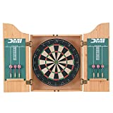 DMI Sports Deluxe Bristle Dartboard Cabinet Set with Electronic Scorer...