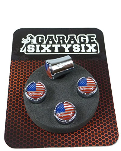 Garage-SixtySix Ventilkappen USA Modell Milwaukee Chrom