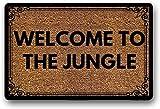 Solatman Welcome to The Jungle - Felpudo para puerta de bienvenida al aire libre, alfombrilla de goma antideslizante, 45 x 75 cm