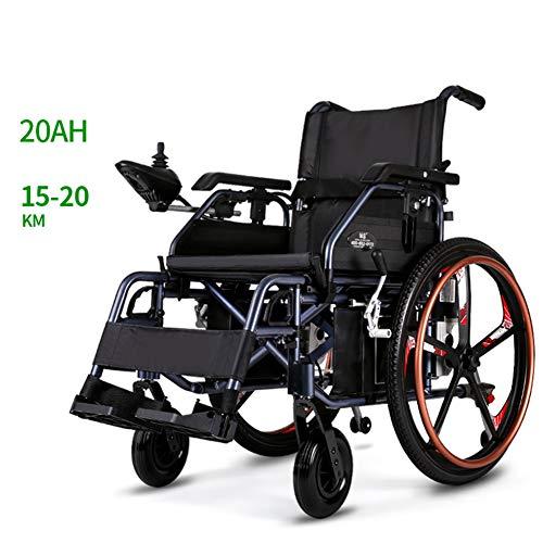 Fantastic Prices! TXDWYF Lightweight Dual Function Foldable Power Wheelchair (Li-Ion Battery), Drive...