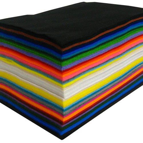 Homedeco-24–Feltro Sintetico, vari colori, ca. 22x 30cm–100unidadesfieltro.