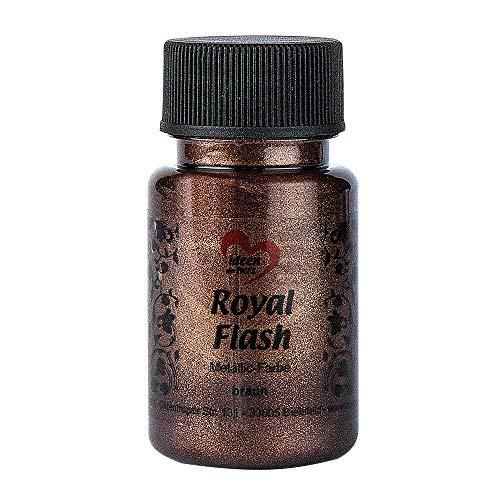 Royal Flash, Acryl-Farbe, metallic, mit feinsten Glitzerpartikeln, 50 ml (braun)