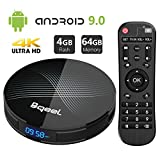 Android 9.0 TV Box 4GB RAM 64GB ROM, Bqeel U1 Pro Android Box RK3318...