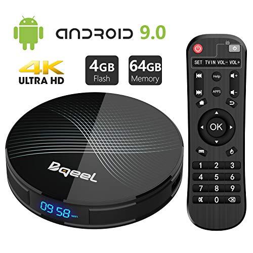 Android 9.0 TV Box 4GB RAM 64GB ROM, Bqeel U1 Pro Android Box RK3318 Quad-Core 64bits Dual-WiFi...