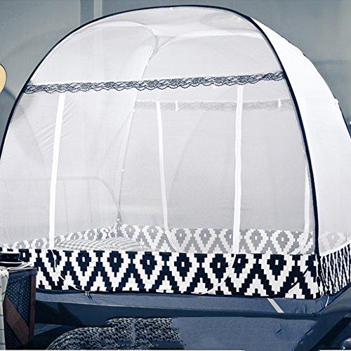Installation libre de pliage de tente de moustiquaire pour des rideaux de canopée de fabrication de lit double avec trois piqûres d'anti moustique de porte pour le voyage d'adultes de Babys ( Couleur : Violet , taille : 1.2m (4ft)) )