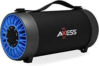 AXESS SPBT1059 Portable Indoor/Outdoor Bluetooth Media Speaker with Built-In FM Radio..