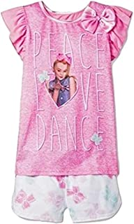 Girls JoJo Siwa Peace, Love, and Dance 2pc Pajamas Shorts Set