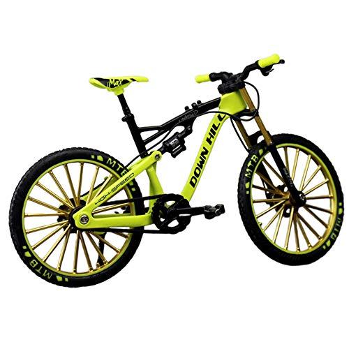 ZAK168 Fahrrad Modell, 1: 10 Zinklegierung Simulieren Reiten Fahrrad Modell, Mini Bike Fingermodell Rennrad Mountainbike Modell Spielzeug