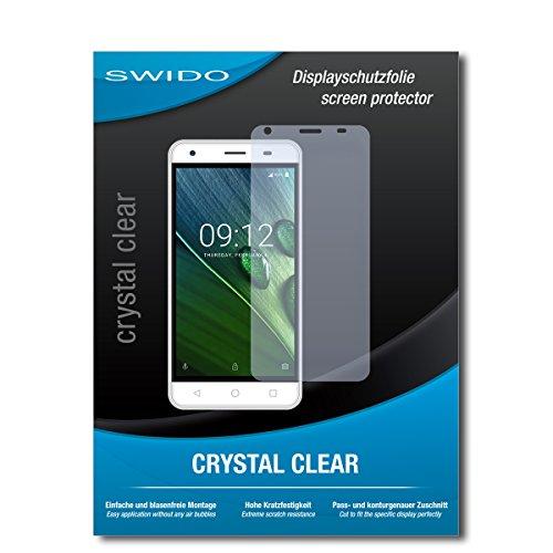 SWIDO Schutzfolie für Acer Liquid Z6E [2 Stück] Kristall-Klar, Hoher Festigkeitgrad, Schutz vor Öl, Staub & Kratzer/Glasfolie, Bildschirmschutz, Bildschirmschutzfolie, Panzerglas-Folie