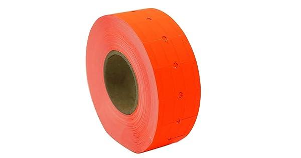 Garvey Impressa 1-Line AM1600 8,000 Labels Towa 1-Line Labelers Coda Resources CDXM2112-FR-SL Motex 5500 XLPRO I Amram 1 Line Price Labels Fluorescent Red 8 Rolls, 1,000 Labels//Roll Use with AM1500 TXM21-6