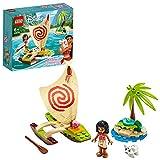 LEGO 43170 Disney Princess L'aventure en mer de Vaiana Ensemble de jeu avec figurine Pua le cochon et catamaran à voile