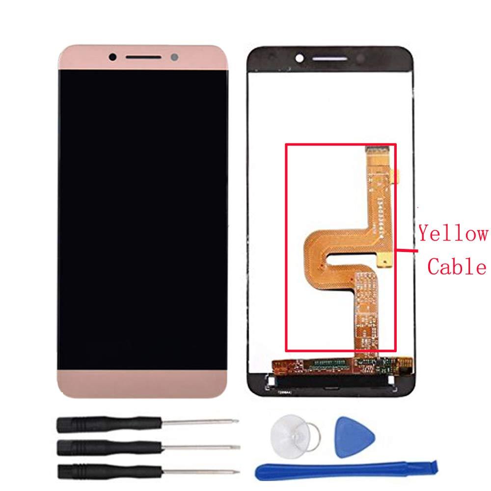 Soliocial Asamblea Pantalla LCD Pantalla Táctil Vidrio para LeTV LeEco Le Pro 3 X720 X725 X727 X722 X728 x726 + Yellow Flex Cable Rose Oro: Amazon.es: Electrónica