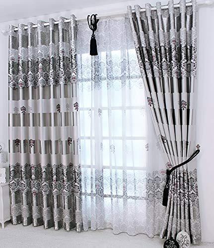 adaada 2er-Set Europäische Moderne Elegante Vorhänge für Wohnzimmer (245x140cm)