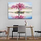BailongXiao Drucken auf Leinwand Kirschblüten für