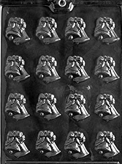 Cybrtrayd W001 Small Bells Chocolate Candy Mold with Exclusive Cybrtrayd Copyrighted Chocolate Molding Instructions