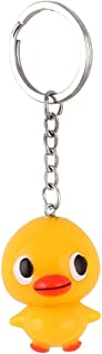 TOOGOO Yellow Duck Pattern Key Chain Mobile Phone Backpack Hanging Ornament