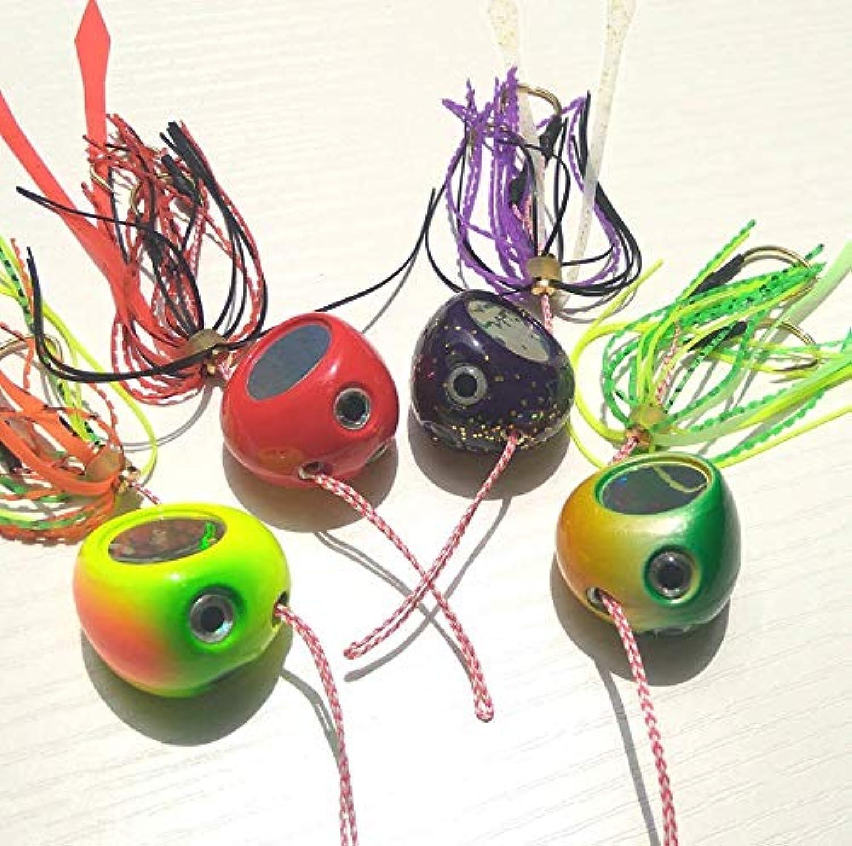 Generic 4pcs 40g120g 4colors Slider Snapper Sea Bream Jig Head with Skirt Fish Lead Jig 120g 4pcs 4s