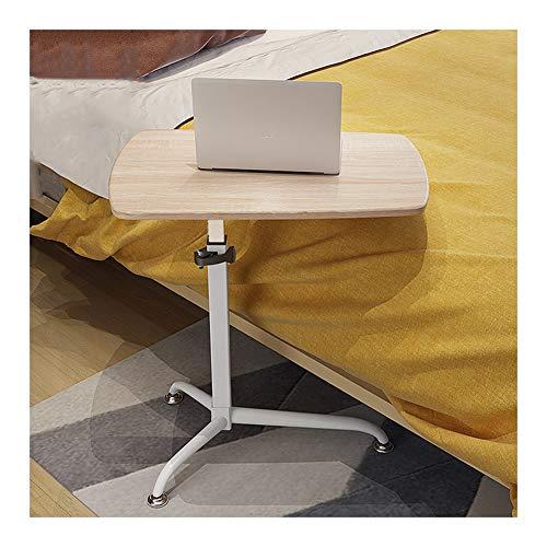 GUOQING Computertisch Lernen Schreibtich Pflegetisch, Frühstückstisch Höhenverstellbar Mit Rollen Beistelltisch for Büro Schlafzimmer Laptopständer Pflegetisch (Color : Light Oak)