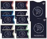 TÜV geprüfte NFC & RFID Schutzhüllen (12 Stück) Blocker Kartenhüllen, Schutz für Kreditkarten, EC Karten, Personalausweis, Reisepass, Kreditkartenetui, RFID & NFC Kartenschutzhülle
