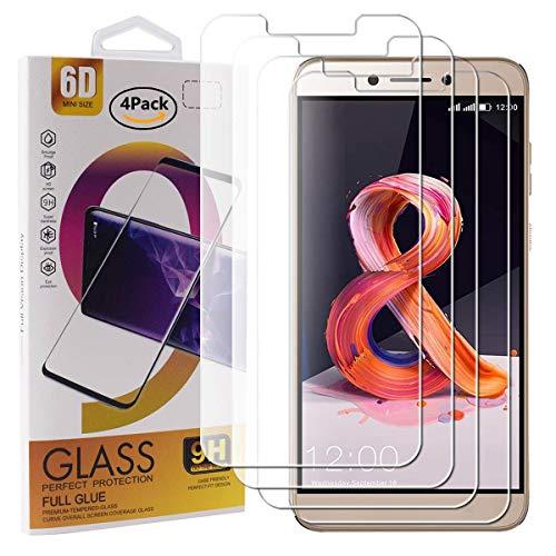 Guran 4 Paquete Cristal Templado Protector de Pantalla para Leagoo T8S Smartphone 9H Dureza Anti-Ara?azos Alta Definicion Transparente Película