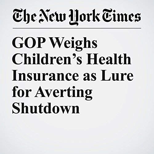 GOP Weighs Children's Health Insurance as Lure for Averting Shutdown copertina