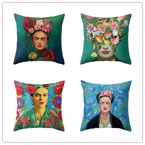 Handfly 4 Pack Throw Pillow Case Cushion Cover for Sofa Chair Couch Decorative Pillowcases 45cm x 45cm/18x18inch