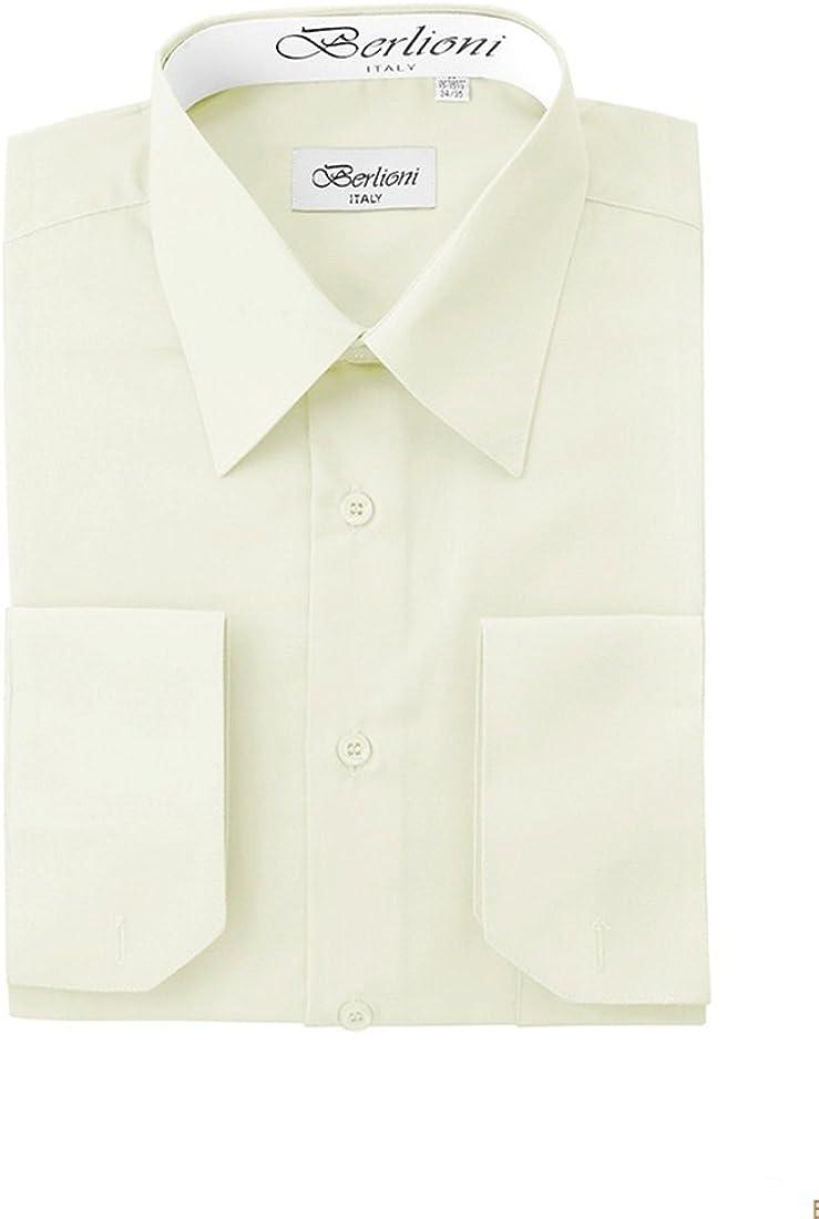 King Formal Wear Elegant Men's Button Down Off-White Dress Shirt