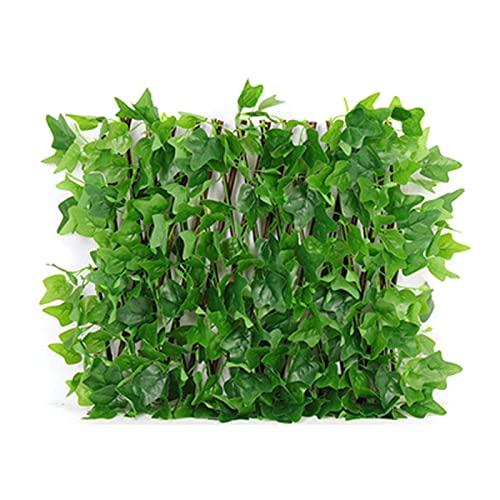 Duomu - Recinzione a foglia artificiale, retrattile, per creare foglie di edera e piante rampicanti, utilizzata per la decorazione da giardino all'aperto