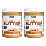 Weider Peanut Butter Duo Pack - 2 x 1000 gr. 100% cacahuete triturado, 100% natural, 100% vegano, Blanco