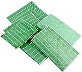 Bambus tücher Putztücher aus Bambus-Mikrofaser - Set für Küche, Bad, Putzen, Auto & mehr - Fusselfrei, saugfähig, schnelltrocknend, antibakteriell - 2 Dicke Tücher, 2 dünne Tücher, 1 Schwamm