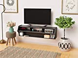 Black Altus Plus 58' Floating TV Stand
