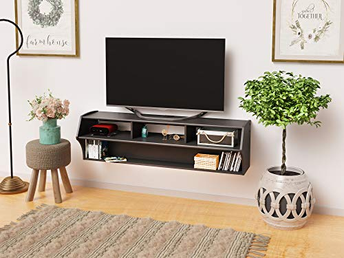 PREPAC Black Altus Plus 58' Floating TV Stand