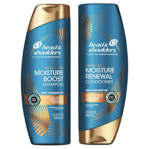 Head and Shoulders Anti Dandruff Treatment and Scalp Care Shampoo and Conditioner, Royal Oils...