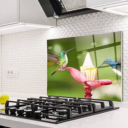Horno para la cocina protector contra salpicaduras resistente al calor decoración guardia trasera proteger proteccion mural panel rasguño resistir Talla: 60x52cm-No:242