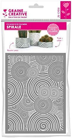 Graine Créative Stencil 11 4 x Max 86% OFF 15 - Spiral Outlet sale feature Polymer 3 for cm Clay