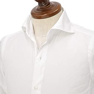 [Finamore【フィナモレ】]シャツ PIERO BALI P2013 01 コットン ツイル ホワイト