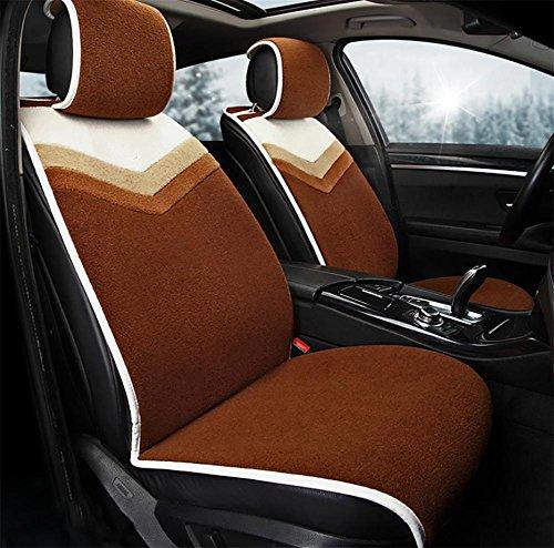 AMYMGLL Housse de siège de voiture cinq version standard commune courte quatre saisons en peluche et la version luxe sélection 4 couleurs , #35