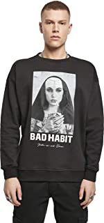 Mister Tee Men's Bad Habit Crewneck Pullover Sweater
