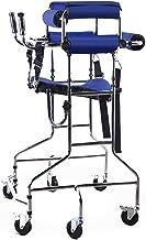 Andador de pie para adultos Andador / soporte con asiento y andador giratorio de 360 ° y 6 ruedas para personas mayores con equipo de rehabilitación de hemiplejía con movimiento de movilidad reducid